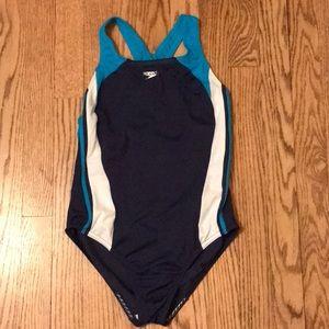 Speedo Girl's One Piece Swim Suit Size 16 K12